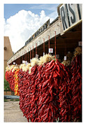 Chile Posters - Ristras Ristraman New Mexico Chile Peppers Poster by Jack Pumphrey