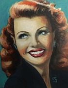Motion Picture Star Prints - Rita Hayworth Print by Shirl Theis