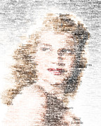 Poster From Digital Art Posters - Rita Hayworth Typo Poster by Taylan Soyturk