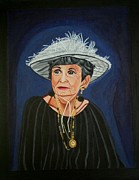 Fine Art  Of Women Paintings - Rita of Queen Street by Sandra Marie Adams