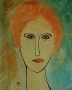 Portraits Paintings - Rita  by Oscar Penalber