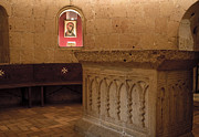 True Cross Photo Prints - Ritual Altar at Templar Church Print by Lorraine Devon Wilke