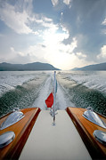 Runabout Prints - Riva Wake - New York Print by Steven Lapkin