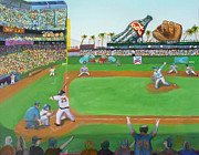 Baseball Paintings - Rivalry by Ryan Williams
