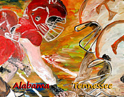Crimson Tide Photo Prints - Rivals Face To Face 1 Print by Mark Moore