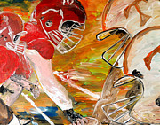 Alabama Sports Art Posters - Rivals Face To Face  Poster by Mark Moore