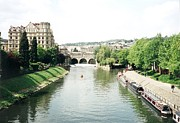 Pulteney Bridge Framed Prints - River Avon Framed Print by Marilyn Wilson