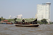 Taxi Photo Prints - River Boat Taxi - Bangkok Thailand - 01136 Print by DC Photographer