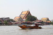 Taxi Framed Prints - River Boat Taxi - Bangkok Thailand - 01139 Framed Print by DC Photographer