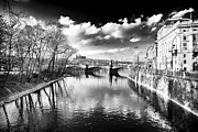 Vltava River Prints - River Crossing Print by John Rizzuto