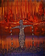 Night Glow Painting Originals - River Dance by Barbara St Jean