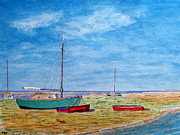 Peter Farrow Metal Prints - River Dee- Heswall Shore Metal Print by Peter Farrow