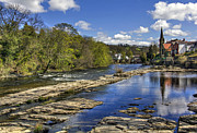 Wales Digital Art - River Dee - Llangollen - North Wales by George Standen