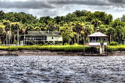 Palmetto Trees Framed Prints - River House on Wimbee Creek Framed Print by Scott Hansen