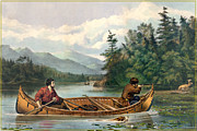 Canoe Art - River Hunting by Gary Grayson