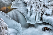 Beautiful Creek Metal Prints - River Ice Metal Print by Chad Dutson