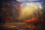 Herbstlaub Photos - River Idyll by Dirk Wuestenhagen