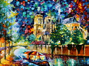 Afremov Art - River in paris by Leonid Afremov
