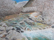 Frost Pastels - River in winter by Igor Kotnik