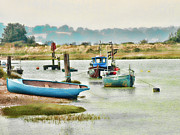 Small Boat Prints - River life Print by Sharon Lisa Clarke