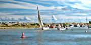 Sailing Ships Prints - River Rother Print by Sharon Lisa Clarke