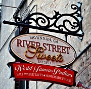 Pralines Posters - River Street Sweets Poster by Tara Potts