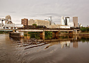 Reflections In River Photo Prints - River Structures13 Print by Susan Crossman Buscho