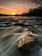 Landscape Photos - River sunset by Davorin Mance