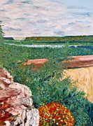 Mississippi River Painting Originals - River Valley by Troy Thomas