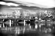 River View Photo Metal Prints - River View in New Hope Metal Print by John Rizzuto