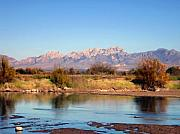 Las Cruces New Mexico Digital Art Framed Prints - River view Mesilla Framed Print by Kurt Van Wagner