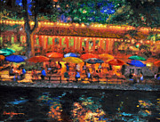 River Walk Paintings - River Walk by Daniel  Adams