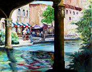 Diane Kraudelt Art - River Walk by Diane Kraudelt