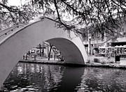 White Arched Bridge Prints - River Walk Print by Jenny Hudson