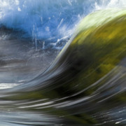 Blue Green Wave Photos - River Wave by Heiko Koehrer-Wagner