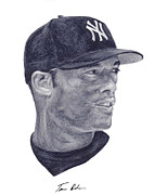 Yankees Painting Prints - Rivera Print by Tamir Barkan
