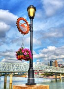 Queen City Framed Prints - Riverboat Lamp Framed Print by Mel Steinhauer