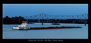 Ohio River Landscapes Posters - Riverboat Life Poster by David Lester