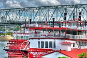 Riverboats Framed Prints - Riverboats Of Cincinnati Framed Print by Tri State Art