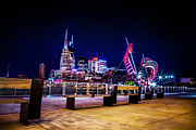 Nashville Tennessee Framed Prints - Riverfront Vista Framed Print by Lucas Foley