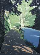 Shade Paintings - Riverside Path by Malcolm Warrilow