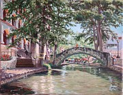 Riverwalk Prints - Riverwalk Stroll Print by Terrie Leyton