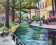 Riverwalk Posters - Riverwalk Poster by Wendy Delgado