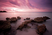 Purple Wall Art Framed Prints - Riviera Maya Sunrise Framed Print by Adam Romanowicz