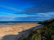 Riviere Metal Prints - Riviere Sands Cornwall Metal Print by Louise Heusinkveld