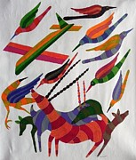 Gond Tribal Art Paintings - Rkt 08 by Ravi Kumar Tekam