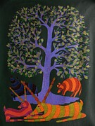 Gond Art Paintings - Rkt 09 by Ravi Kumar Tekam