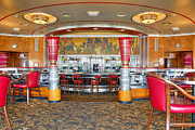 Rms Queen Mary Framed Prints - RMS Queen Mary Deco Bar and Lounge Long Beach CA Framed Print by David  Zanzinger