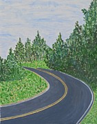 Incredible Painting Prints - Road in Colonial Park Print by Sonali Gangane