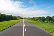 Flevoland Art - Road through the countryside  by Jan Marijs